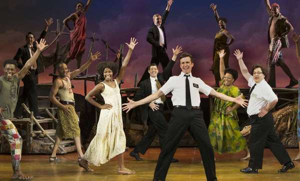 "A scene from the touring production of ""The Book of Mormon."""