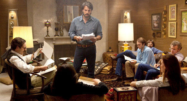 "Ben Affleck as Tony Mendez, center, in ""Argo."""