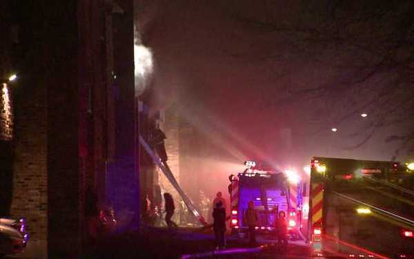 A three alarm fire was reported early Tuesday morning at 231 Ellington Road in East Hartford.