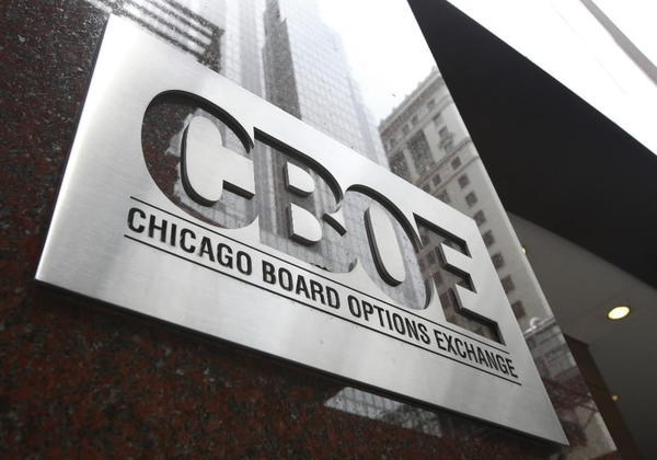 CBOE building in downtown Chicago.