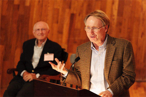 "Dan Brown, right, author of ""The Da Vinci Code."""