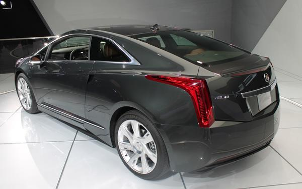Cadillac showed off the all-new ELR plug-in hybrid Tuesday morning at the Detroit Auto Show. The car is loosely based on the Chevy Volt.