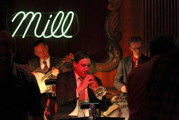 The Fat Babies, including cornet player Andy Schumm, perform at the Green Mill in Chicago.