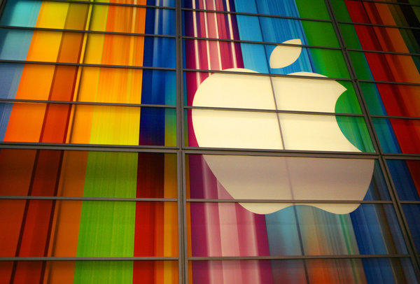 Apple's stock plunged through the $500 per share barrier in trading Tuesday.