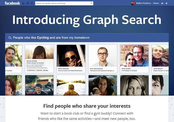 Facebook's new Graph Search tool lets users search for specific information using simple phrases across their friends' content, including photos, tags, and other information.