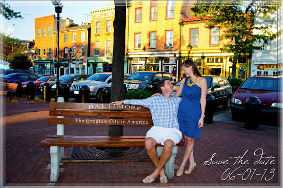 Rachel Gatulis and Andrew Gray's Save the Date card