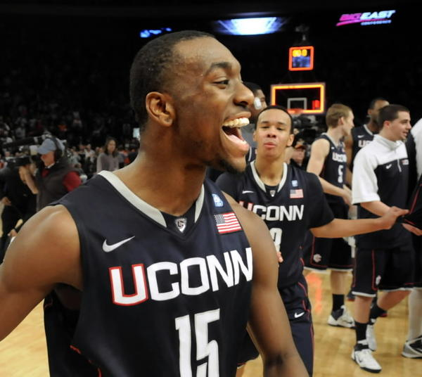 UConn Basketball wins their seventh Big East Championship. Here is Kemba Walker and Shabazz Napier celebrating a win during 2011 NCAA tournament.