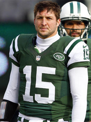 Tim Tebow didn't get a lot of playing time with the New York Jets this season, prompting speculation that he might be traded.