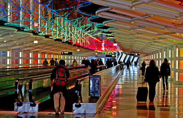 O'Hare International Airport Terminal 1 is famous for its underground tunnel of lights and music. But a shipment of embalmed heads got more notice this week.