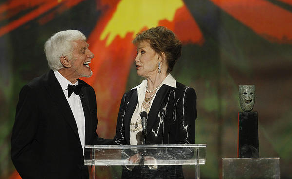 "Van Dyke presented Mary Tyler Moore with her Screen Actors Guild Life Achievement Award in 2012 at the Shrine Auditorium in Los Angeles. The two costarred in ""The Dick Van Dyke Show"" from 1961 to 1966.<br><br> ""I didn't realize that the person gets to pick the presenter, and I said, 'Well, she has to pick me.' But, he noted with a smile, ""she took a couple of weeks, and it had me chewing my nails."""