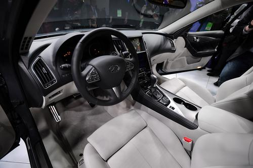 The interior of the Infiniti Q50 sedan.