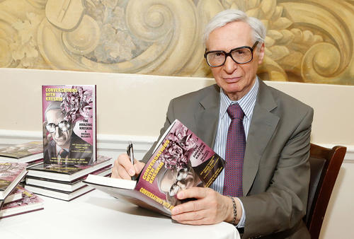 "Kreskin attends the ""Conversations With Kreskin"" Book Launch Celebration at Patsy's on November 14, 2012 in New York City."