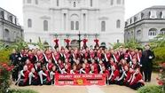 Dulaney's Lion's Roar Marching Band performs at Sugar Bowl