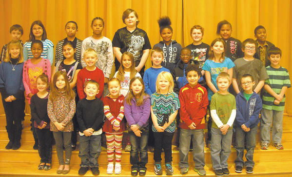 These students were chosen Students of the Month for January at Salem Avenue Elementary School. Row one, from left, Alexis Robinson, Ana Peratino, Aiden McCarty, Hailey Clark, Caroline Gehring, Chasity Theriault, Eli Sterling, Aiden Clark and Christopher Staley. Row two, Mikaela Barkley, Imani Monroe, Sevda Mustapayeva, Bryan Wagner, Leah Palmer, Damian Van de Geer, Shakur Thomas, Mariah McCormick, Tyler Smith and Cory Doctrow. Row three, Devin Martin, Renee Hull, Evan Salters, Devon Creary, Caleb Pine, Keiome Condrey, Jacob Shilling, Tiara Danner and Xavier Randolph. Absent from photo are Jacob Scott, Chloe Brown and Xavier Davis.