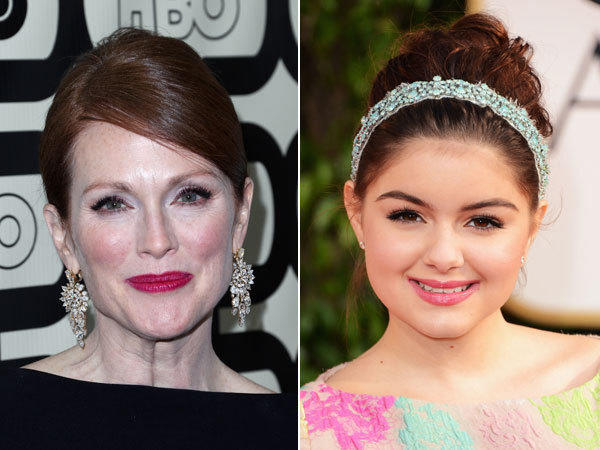 From left, Julianne Moore and Ariel Winter.