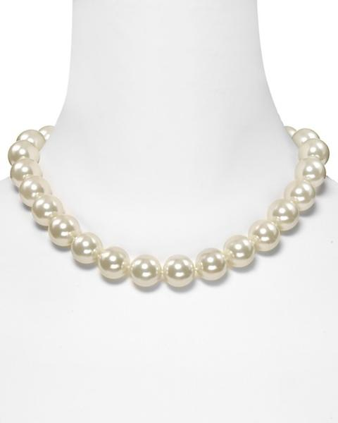 For an affordable string of pearls, get the Lauren by Ralph Lauren glass pearl necklace from Bloomingdales for $58.