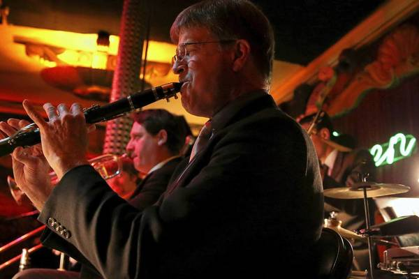 The Fat Babies, including clarinet player John Otto, perform at the Green Mill in Chicago.