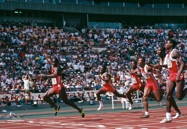 Ben Johnson, Olympic track star: Perhaps the biggest doping scandal in Olympic history, Canada¿s record-breaking 100-meter sprinter tested positive for steroids after turning in a time of 9.83 seconds. His 1988 gold medal was given to rival Carl Lewis. In his 2010 autobiography, Johnson suggested that Lewis was involved in sabotaging his test results.