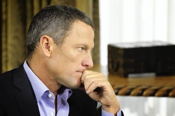 Lance Armstrong speaks with Oprah Winfrey during an interview regarding the controversy surrounding his cycling career.