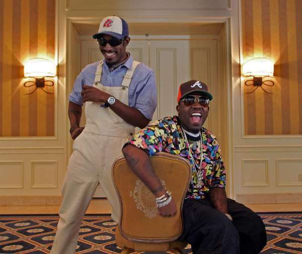 Andre 3000, left, with Big Boi in 2006, addresses remixes and more.