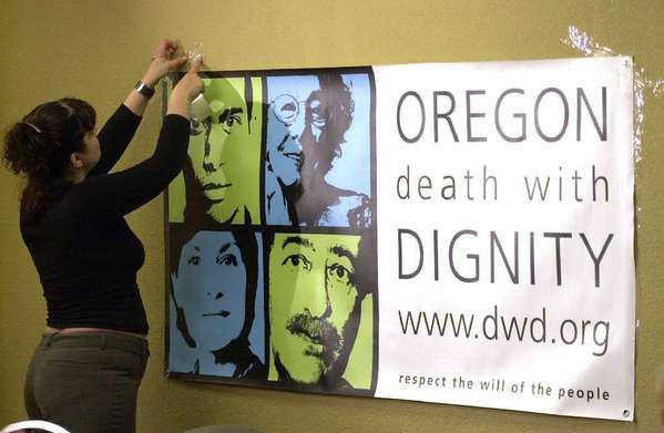 Oregon, Washington and Montana have assisted-suicide laws.