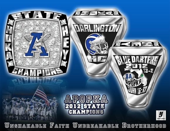 Apopka's 2012 football state championship ring