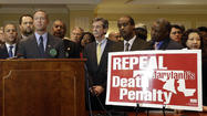 Surrounded by a phalanx of legislators and death penalty opponents, Maryland Gov. Martin O'Malley announced Tuesday that his office will make a firm push to repeal the death penalty in the state this legislative session.