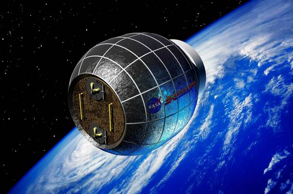The NASA Bigelow module would attach to the International Space Station.