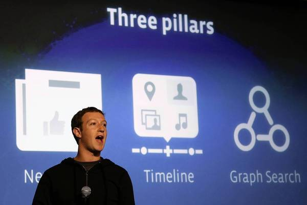 "Facebook Chief Executive Mark Zuckerberg introduces the new Graph Search feature at the company's headquarters in Menlo Park, Calif. ""Graph Search is a completely new way for people to get information on Facebook,"" he said."
