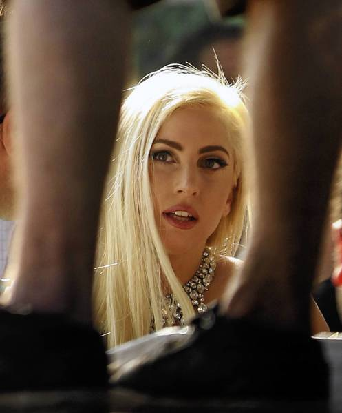 Lady Gaga watches rapper Kendrick Lamar's set at the Pitchfork Music Festival at Union Park in July. While in town, she was deposed in connection with a 2011 civil lawsuit brought by Chicago musician Rebecca Francescatti, according to Francescatti's attorney Bill Niro.