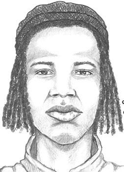 Sketch of a man suspected in the robbery and killing of a Southwedst Side auto shop owner Jan. 2.