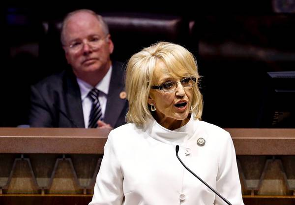 In her State of the State address Monday, Gov. Jan Brewer said that if she didn't accept the Medicaid money for Arizona, other states would claim those federal funds.