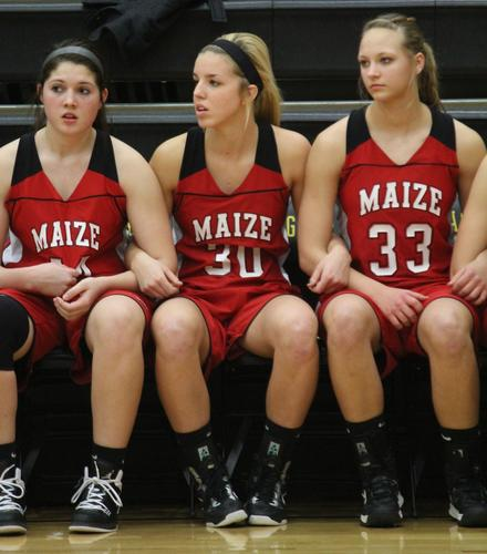 Maize's girls' basketball team started strong on its way to a 56-38 victory over Andover Central.