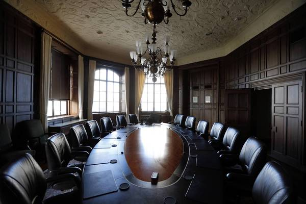 The boardroom on the 24th floor of Tribune Tower. For Tribune Co., its employees and many of its smaller creditors, bankruptcy became a debilitating period of missed opportunities. The cost to the company in legal and professional fees is likely to top $500 million.