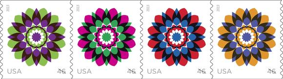 New floral stamps are now available.