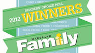 Maryland Family Readers' Choice 2012 WINNERS