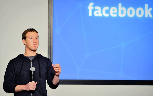 Facebook CEO Mark Zuckerberg speaks at an event at Facebook's Headquarters office in Menlo Park, California on Jan. 15, 2012.