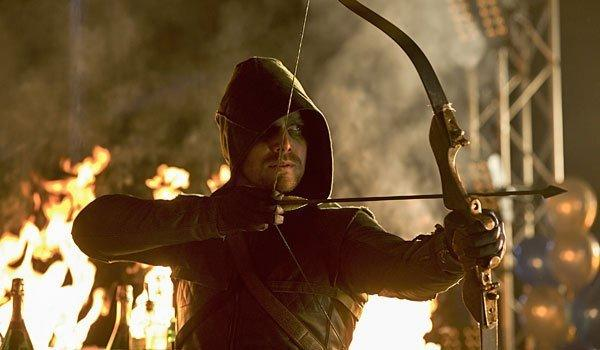 "Stephen Amell as Oliver Queen as the title hero in ""Arrow."""