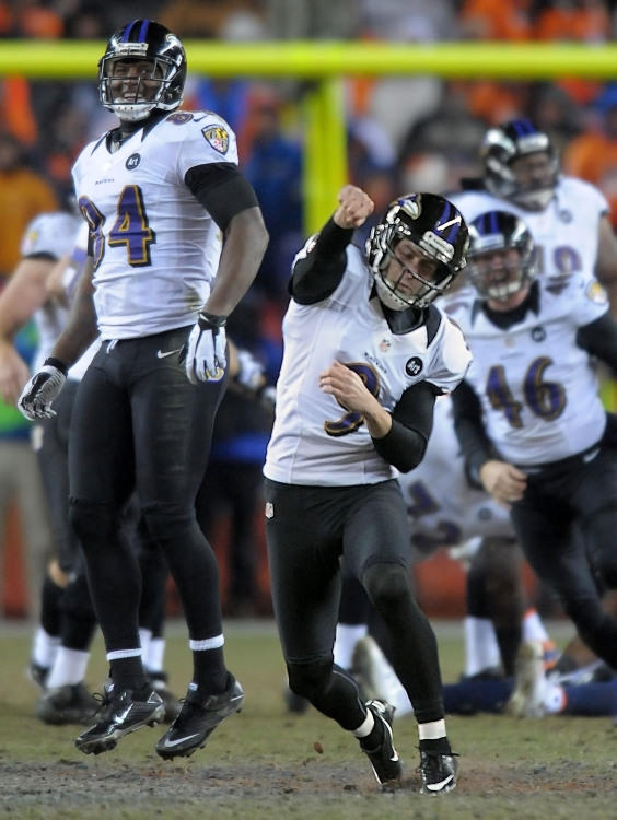 "The last time the Ravens faced the Patriots, former Ravens kicker <a class=""taxInlineTagLink"" id=""PESPT00008944"" title=""Billy Cundiff"" href=""/topic/sports/football/billy-cundiff-PESPT00008944.topic"">Billy Cundiff</a> missed a 32-yard field goal. That moment may have been the beginning of the end of his professional career. Bringing on 23-year-old rookie <a class=""taxInlineTagLink"" id=""PESPT00016298"" title=""Justin Tucker"" href=""/topic/sports/football/justin-tucker-PESPT00016298.topic"">Justin Tucker</a> to replace Cundiff was a risky move, but it paid off: He's 32 for 35 this season, including the playoffs, with a long of 56 yards. He's no Matt ""Automatic"" Stover, but with Tucker, we feel much better about our chances this season."