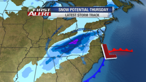Winter Storm Watches issued for Thursday