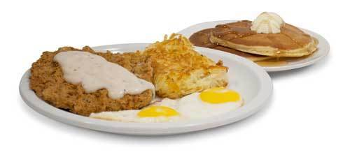 IHOP's Country Fried Steak & Eggs has 1,760 calories, 23 grams saturated fat, 3,720 milligrams sodium and 11 teaspoons of sugar, according to Center for Science in the Public Interest.