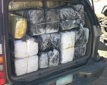 Border Patrol agents seize bundles of marijuana.