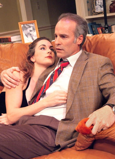 "Geoffrey Lower and Caroline Kinsolving in ""Chapter Two"" at the Laguna Playhouse."