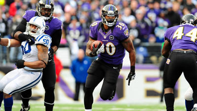 Bernard Pierce, Brendon Ayanbadejo absent from Wednesday's prac…