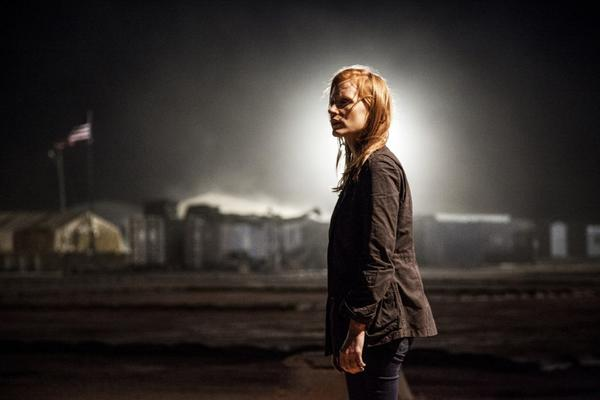 "Jessica Chastain as CIA analyst Maya in Kathryn Bigelow's drama ""Zero Dark Thirty."""