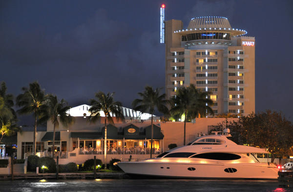 This waterfront steak and seafood grill sits on the edge of the romantic Intracoastal. <br><br>  Grill 66<br> Hyatt Regency Pier Sixty-Six<br> 2301 SE 17th St. Causeway<br> Fort Lauderdale<br> 954-728-3500<br> http://grille66andbar.com