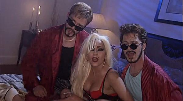 "Justin Timberlake, Lady Gaga and Andy Samberg appear in the ""Saturday Night Live"" video short ""3-Way (The Golden Rule)"" in a May 21, 2011, episode."