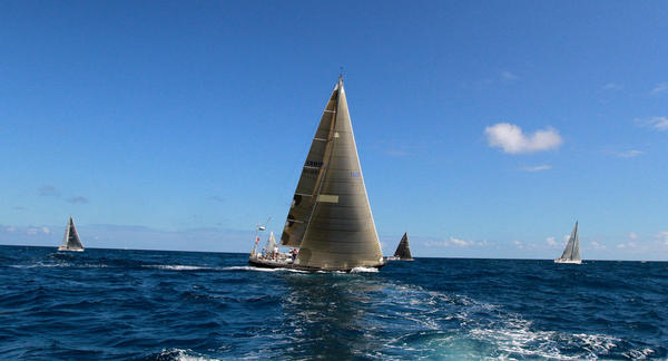 Yachts participate in  the 38th Fort Lauderdale to Key West sailing regatta.
