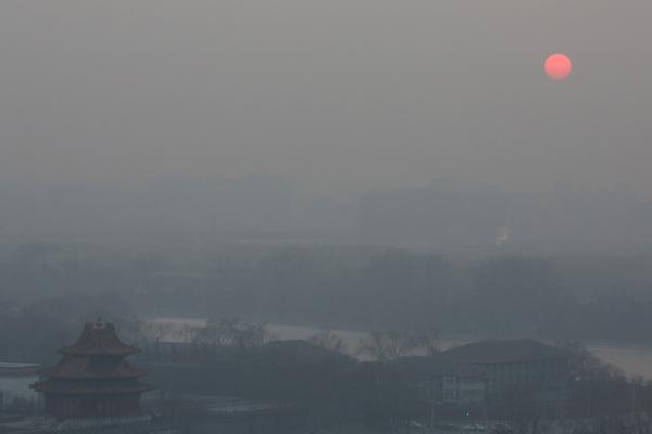 Smog in China - Air pollution over Beijing