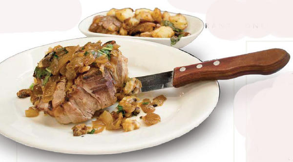 Veal porterhouse with potatoes: 2,710 calories.